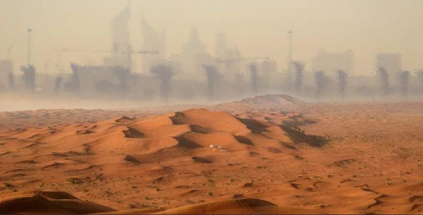 Мираж в пустыне.