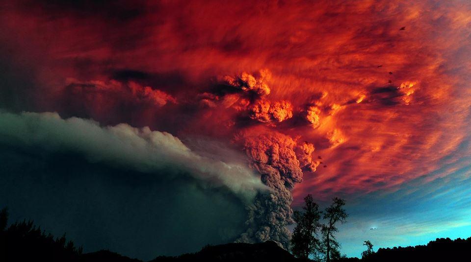 Огненные облака.