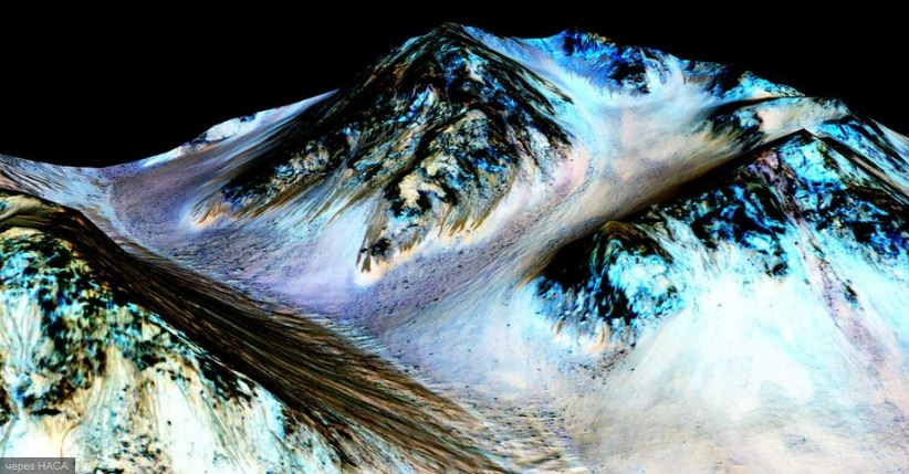 Наличие воды на Марсе.