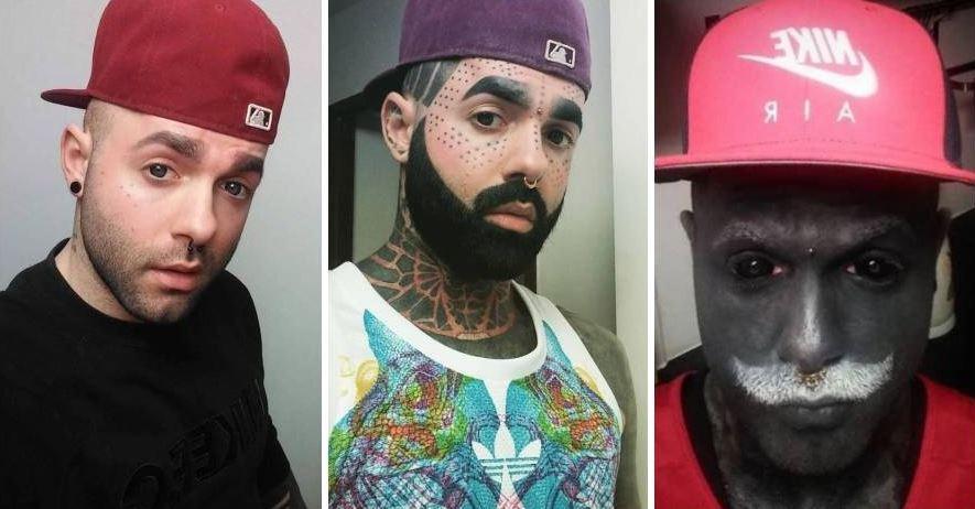 Адам Кёрликале начал татуировать все свое тело после того, как он пережил рак.