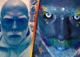 Адам стал полностью татуированным, после болезни.