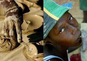 Гаитяне употребляют лепёшки из грязи, чтобы выжить