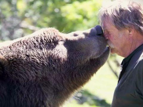 Невероятная дружба человека и зверя.