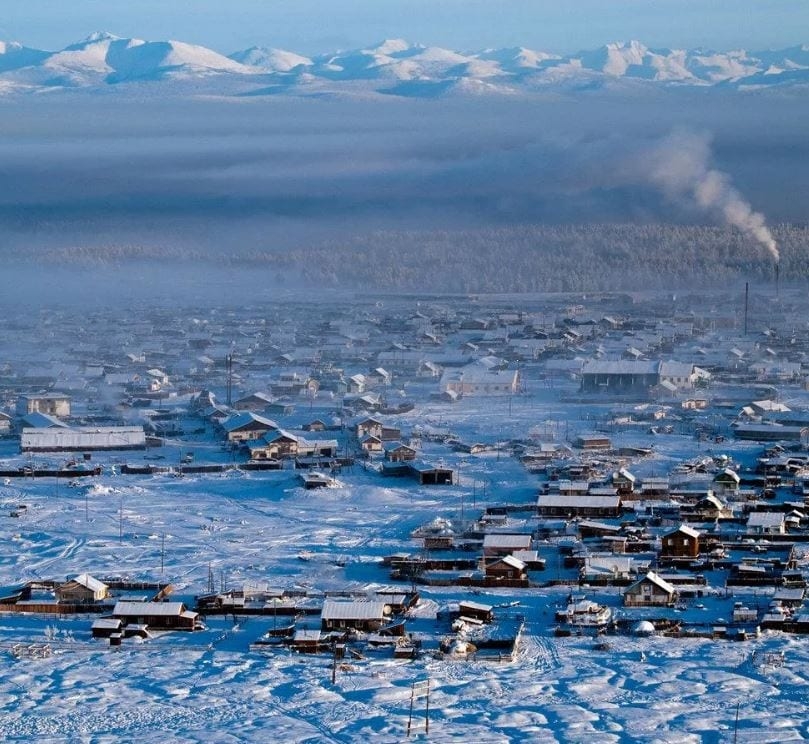 Оймякон - самый экстримальный посёлок в мире.