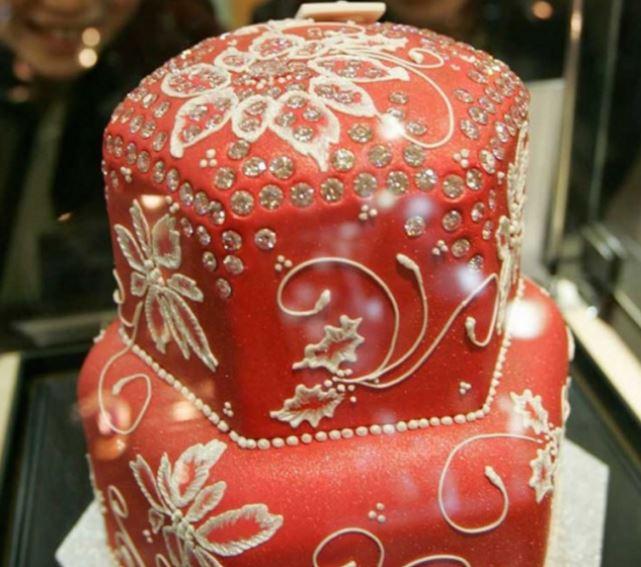 Алмазный фруктовый торт.