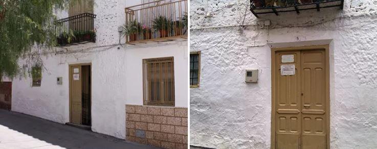 Дом Марии Гомес Камара с графиком посещений в 2012г.