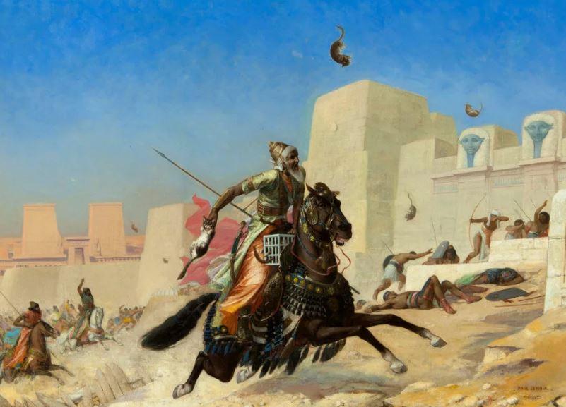 Персы использовали кошек для захвата Египта.