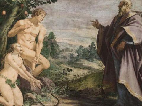 Адам, Ева и Создатель.