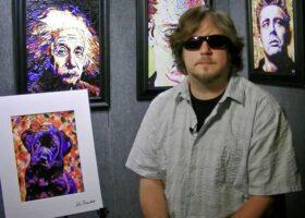 Слепой художник создает необычайно красочные картины