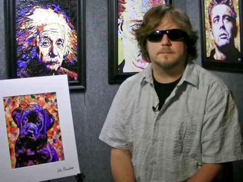 Джон Брэмбитт родился в 1971 году, а в 2001 - полностью ослеп.