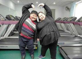 Китайская пара теряет вес, чтобы зачать ребенка