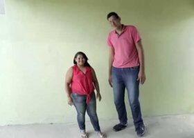 Высокий мужчина женится на женщине в 2 раза ниже