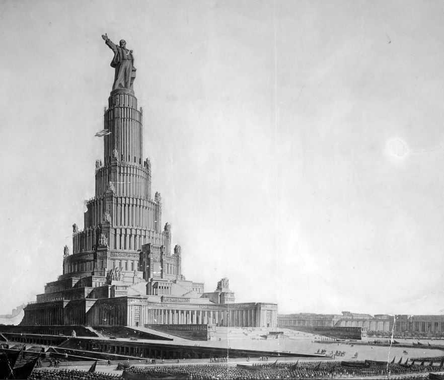 Дворец Советов-нереализованная мощь циклопического здания!
