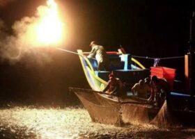 Рыбалка в Тайвани с серным огнем