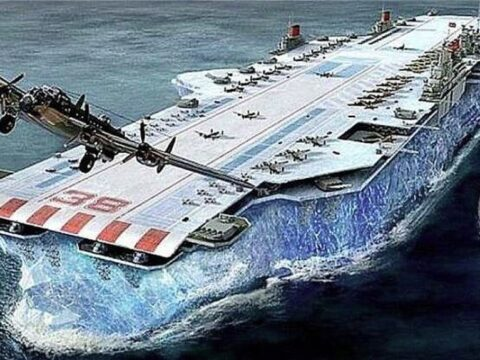 Корабль из льда, секретный проект британии.