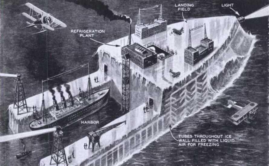 Проект Habakkuk: британский секретный корабль из льда.