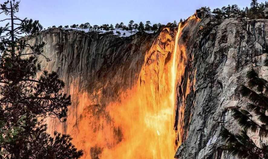 Огненный водопад - Лошадиный Хвост.