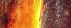 «Лошадиный хвост» — Йосемитский огненный водопад