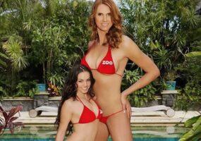 Амазонка Ева, самая высокая модель в бикини в мире