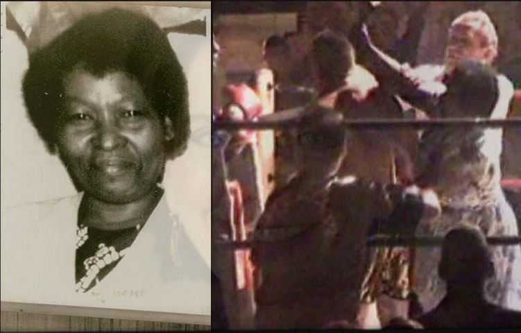 Избиение боксера самоотверженной мамой. Мама оказалась жестоким бойцом.