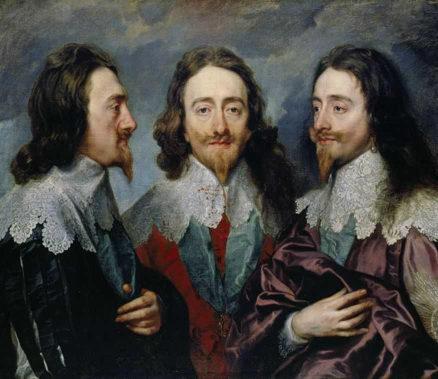 Карл I (1600-49) сэра Энтони Ван Дейка. Прическу носили с левой стороны, чтобы длинные волосы всегда росли к сердцу.