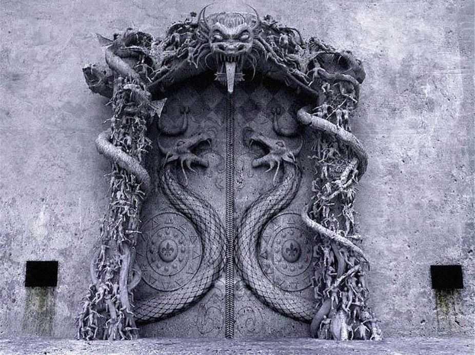 Та самая, непокорная, заколдованная дверь храма.
