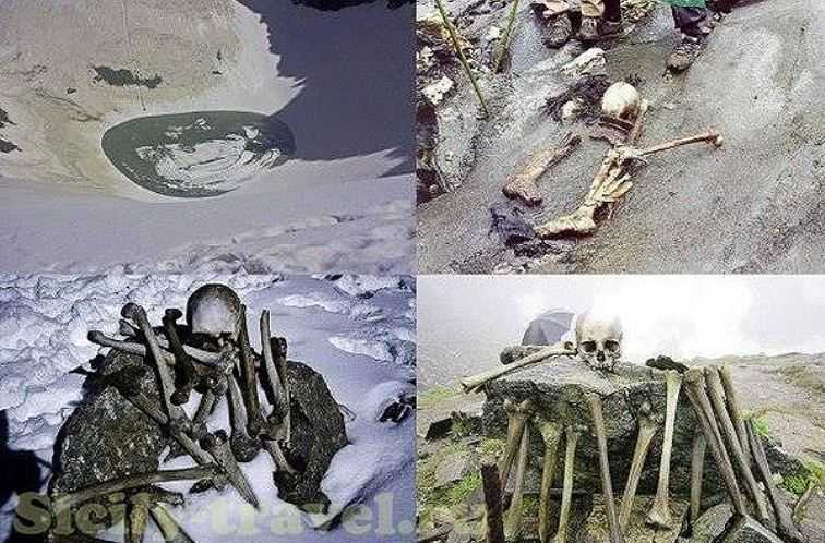 Когда озеро освобождается от льда, сотни человеческих скелетов появляются обозрению.