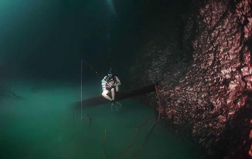 Рыбалка на подводной реке.