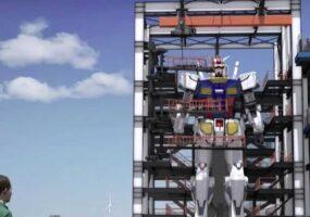 Японский мега-робот выполняет тест на движение