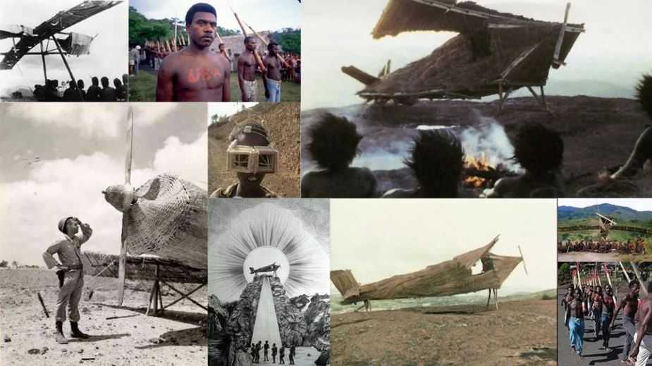 Первобытное островное племя, которое молится и поклоняется американскому солдату. Когда-то бывавшему на их острове и одарившему их подарками.