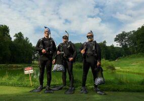 Дайвер: заработок на поле для гольфа