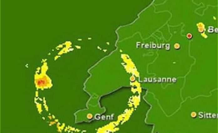 Портал над Женевой, на этот раз в виде облаков, которые создавали