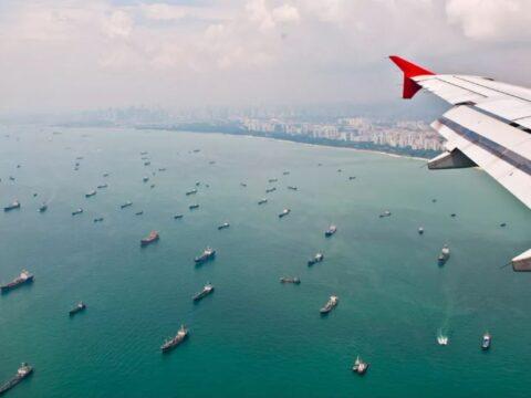Самая большая стоянка кораблей.