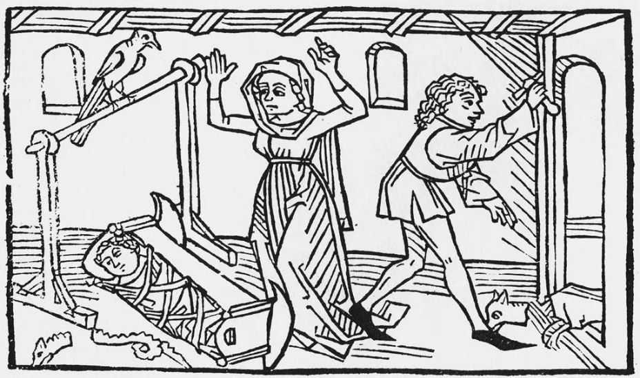 Легенда о Сен-Гинфорте. Ксилография XV века.