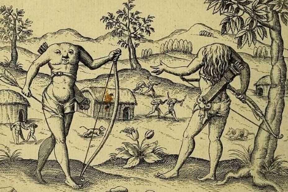 Блеммии: безголовые люди из Африки.