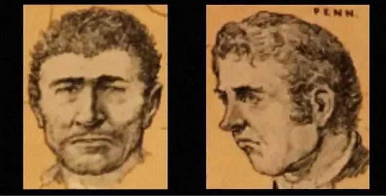 Реконструкция портретов братьев Харп, основанная на показаниях людей, видевших этих зверей.