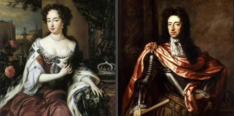 Король Вильгельм III и королева Мария.