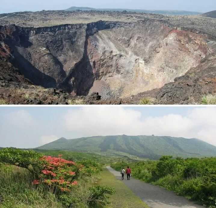 Япония: Вулкан самоубийц Вулкан Михара - одна из главных