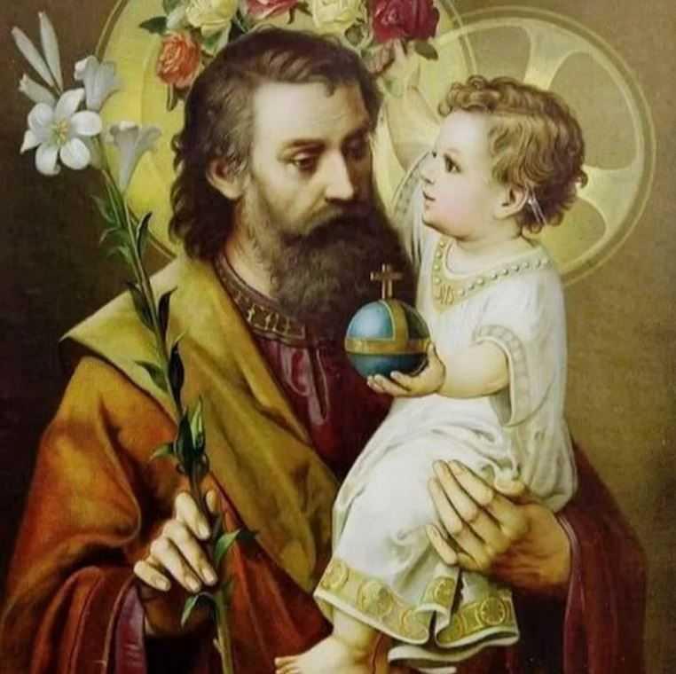 Святой Иосиф Обручник с ребенком — Иисусом.