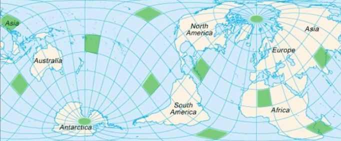 Сандерсон составил карту электромагнитных аномалий Земли, на которой указал