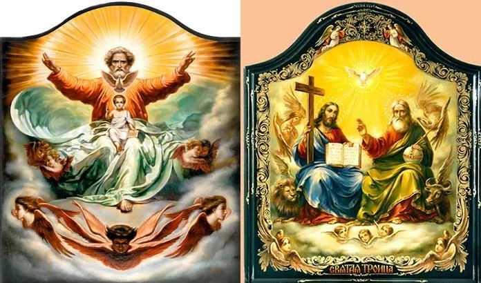 Святая троица: Бог, сын и святой дух.