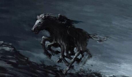 Слейпнир: мифический восьминогий конь Одина.