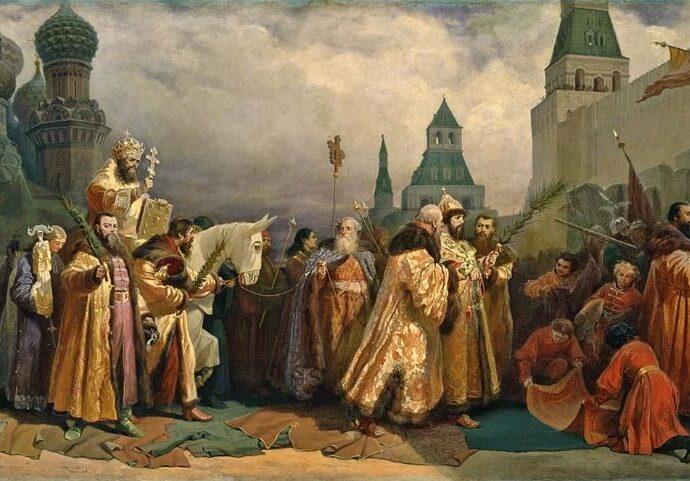 Вербное Воскресенье в Москве в царствование Алексея Михайловича.