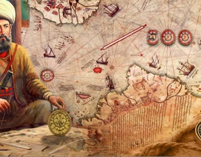 Карта Пири Рейса 1513 года и Антарктиды.