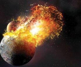 Планета Тейя и Земля: столкновение