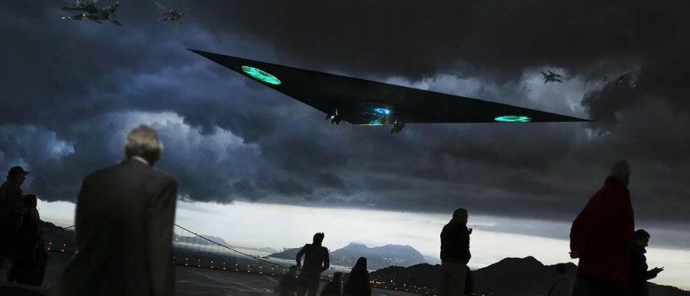 НЛО: всплеск наблюдений треугольника.