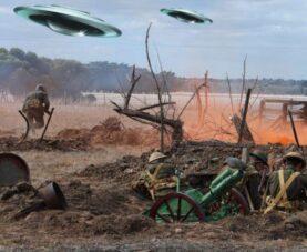 Первая Мировая война: бой истребителя с НЛО