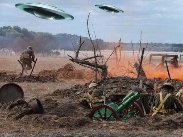 Первая Мировая война: бой истребителя с НЛО.