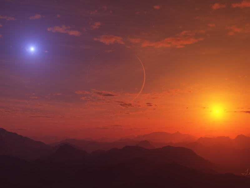 Проект SERPO. Возможно так выглядит закат на планете Серпо.